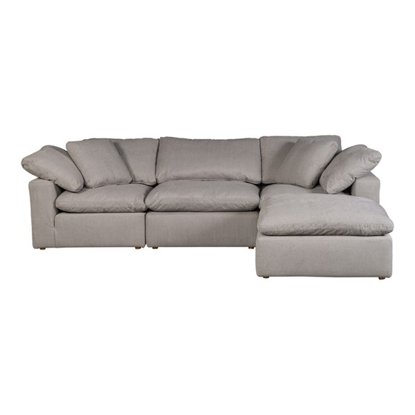 Moes Home Terra Condo Light Grey Fabric Lounge Modular Sectional MOE-YJ-1015-29