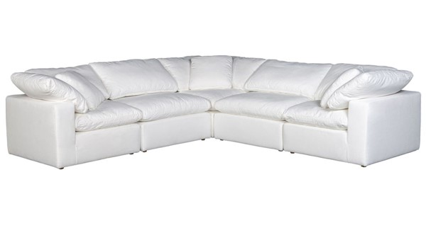 Moes Home Terra Condo Cream Fabric Classic L Modular Sectional MOE-YJ-1017-05