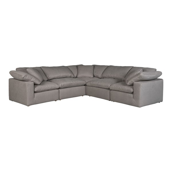 Moes Home Terra Condo Light Grey Fabric Classic L Modular Sectional MOE-YJ-1017-29
