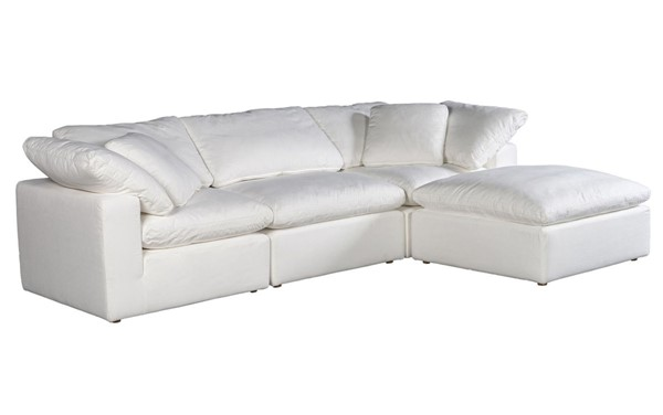 Moes Home Clay White Polyester Lounge Modular Sectional MOE-YJ-1008-05
