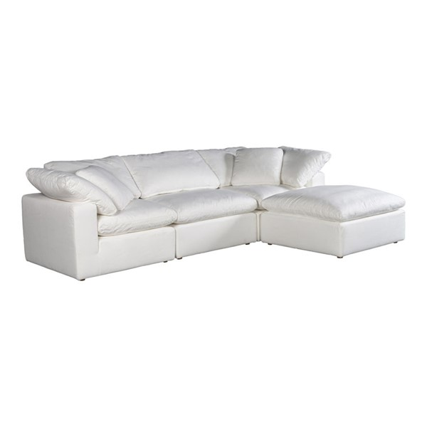 Moes Home Clay Cream White Polyester Lounge Modular Sectional MOE-YJ-1008-05