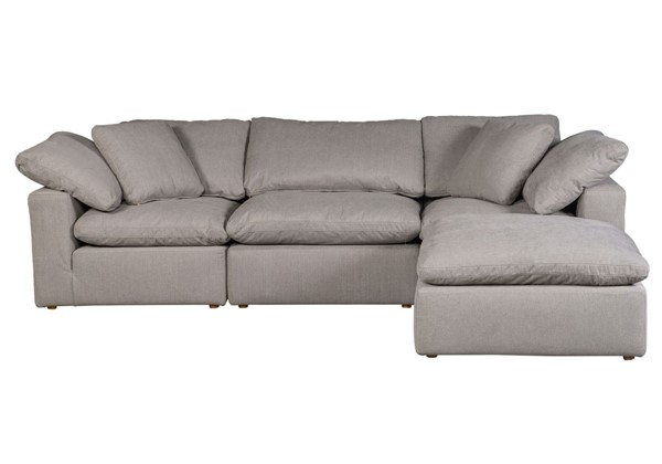 Moes Home Clay Light Grey Polyester Lounge Modular Sectional MOE-YJ-1008-29
