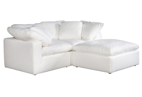Moes Home Clay White Polyester Sectional MOE-YJ-1009-05