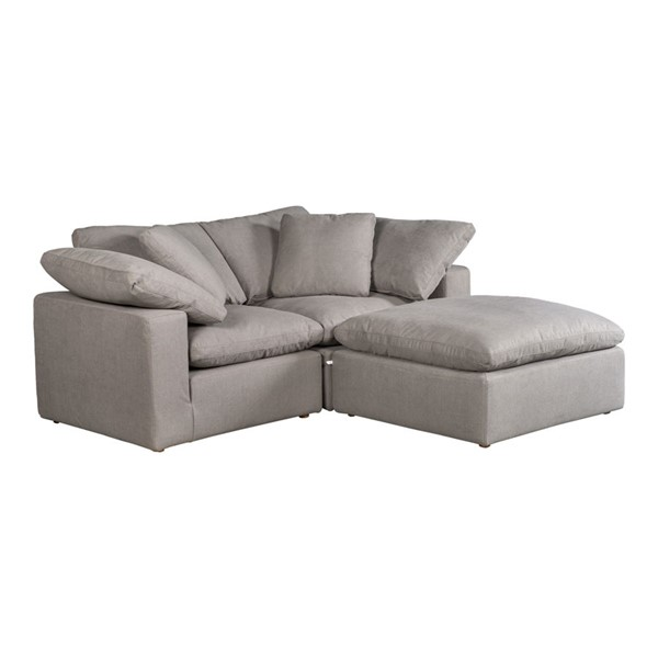 Moes Home Clay Light Grey Polyester Modular Sectional MOE-YJ-1009-29