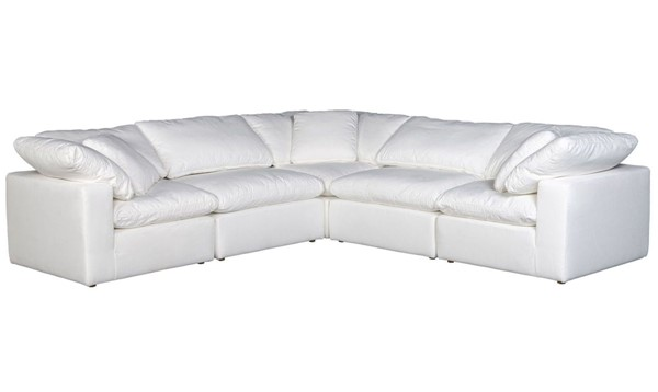 Moes Home Clay White Polyester Classic Modular Sectional MOE-YJ-1010-05