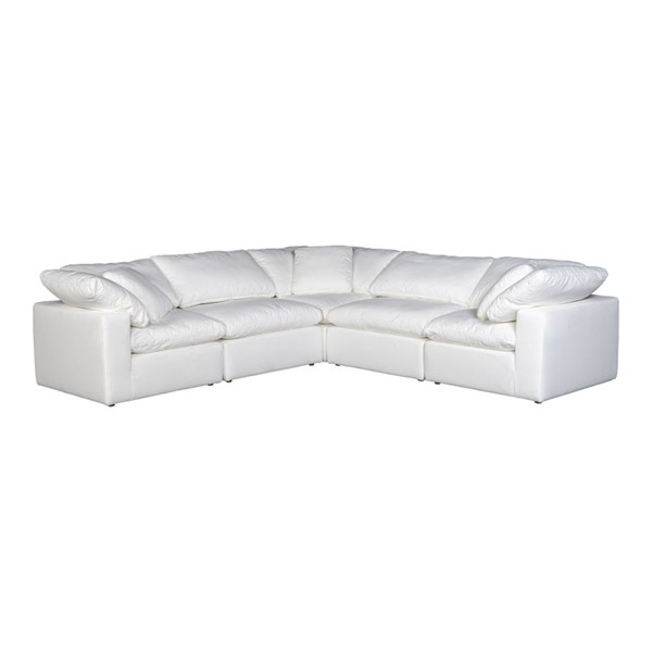 Moes Home Clay Cream Polyester Classic Modular Sectional MOE-YJ-1010-05