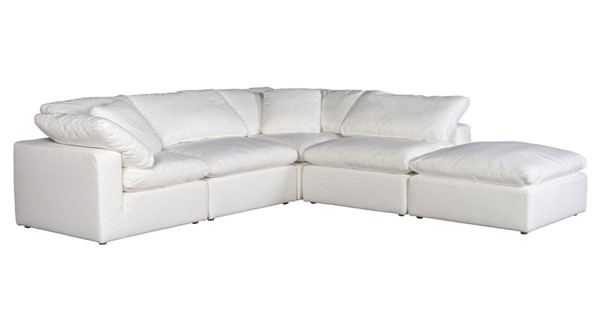 Moes Home Clay White Polyester Dream Modular Sectional MOE-YJ-1011-05