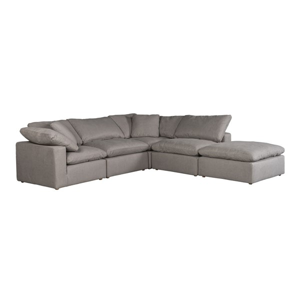 Moes Home Clay Light Grey Polyester Dream Modular Sectional MOE-YJ-1011-29
