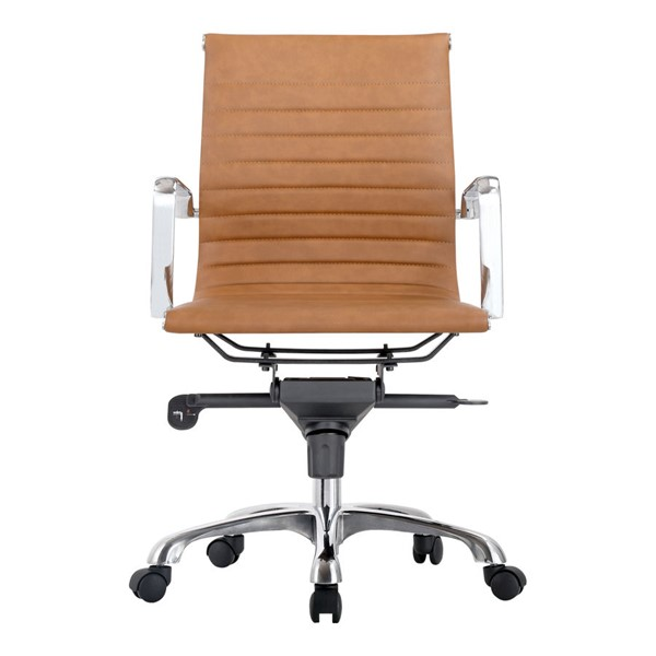 Moes Home Omega Tan Low Back Office Chair MOE-ZM-1002-40