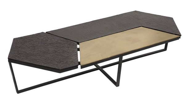 Moes Home Kampas Antique Brass Coffee Table MOE-ZY-1028-51