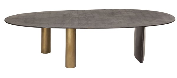 Moes Home Nicko Bronze Cylinderical Brass Coffee Table MOE-ZY-1029-02