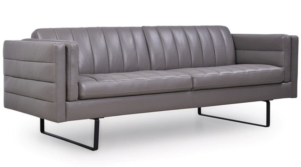 Moroni Orson Dark Grey Leather Sofa MOR-58203B1309