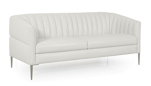 Moroni Pearl Snow White Leather Loveseat MOR-44102BS1296
