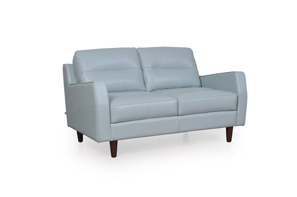 Moroni Isabel Blue Leather Loveseat MOR-34802MS1343