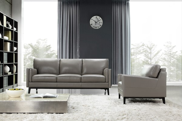 Moroni Osman Dark Grey Leather 2pc Living Room Set with Chair MOR-35203MS1309-LR-S3