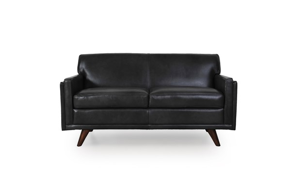 Moroni Milo Charcoal Leather Loveseat MOR-36102BS1171