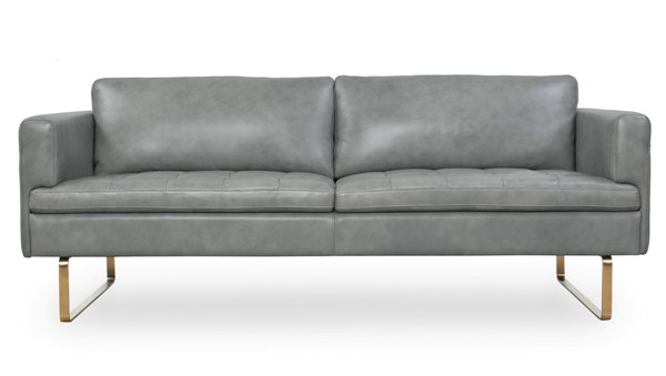 Moroni Frensen Grey Leather Sofa MOR-36503BS1173