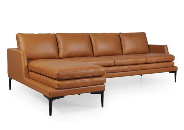 Moroni Rica Tan Leather Modern Sectional MOR-439SCBS1961