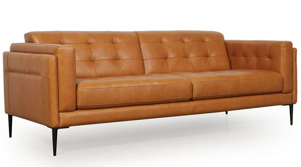 Moroni Murray Tan Leather Sofa MOR-44003BS1961