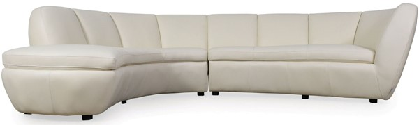 Moroni Crescenta Cream Leather 2pc Sectional MOR-546SCB1181