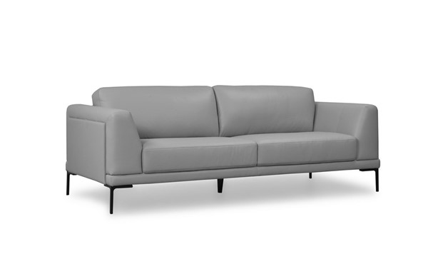 Moroni Kerman Light Grey Leather Sofa MOR-57803B1192