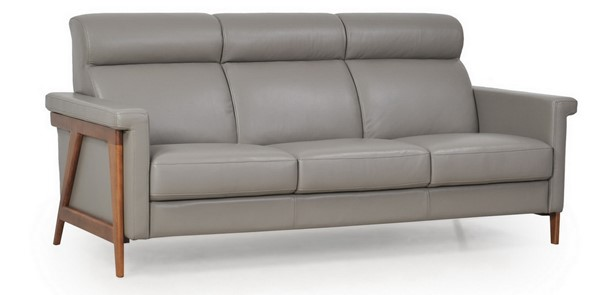 Moroni Harvard Dark Grey Leather Storm Sofa MOR-57903B1309