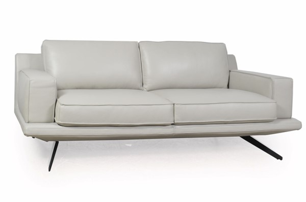 Moroni Mercier Light Grey Leather Sofa MOR-58503BS1383