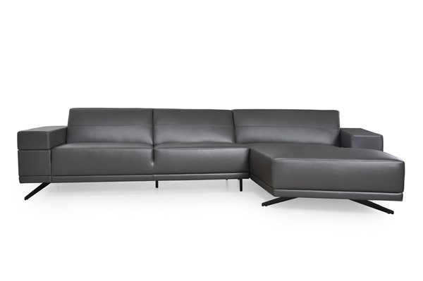 Moroni Oxford Dark Grey Leather Sectional MOR-587SC1643