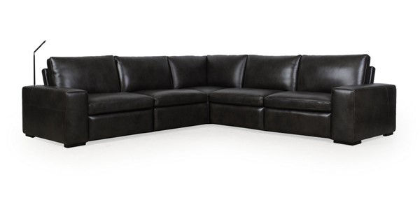 Moroni Clifford Charcoal Leather 5pc Sectional MOR-591SCB1855