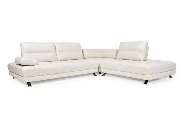 Moroni Teva Snow White Leather 3pc Sectional MOR-556SCB1296