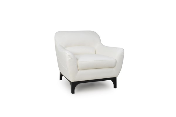 Moroni Wollo Pure White Leather Chair MOR-35701BS1296