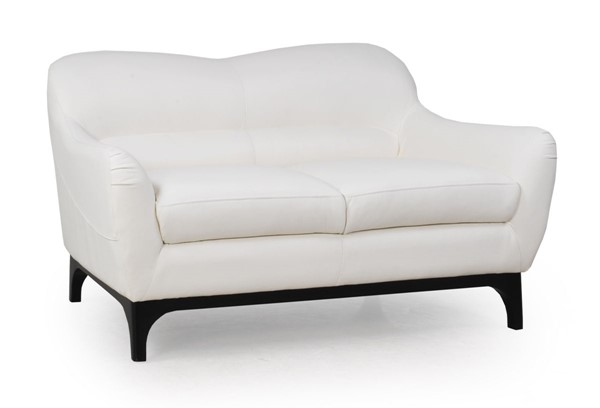 Moroni Wollo Pure White Leather Loveseat MOR-35702BS1296