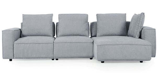 Moroni Josie Light Grey Fabric 3pc Sectional MOR-297SC1224A