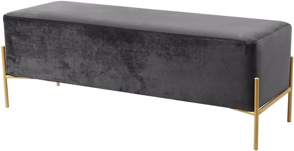 Meridian Furniture Isla Grey Velvet Bench MRD-143Grey