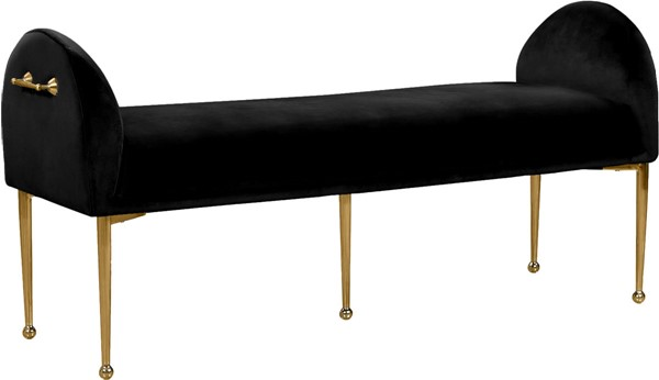 Design Edge Birdsville  Black Velvet Gold Bench DE-22780666
