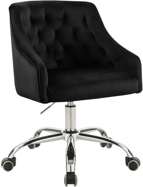 Meridian Furniture Arden Black Chrome Office Chair MRD-162Black