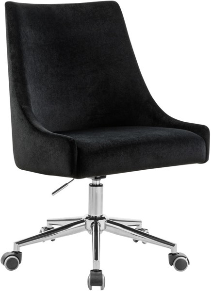 Meridian Furniture Karina Black Chrome Office Chairs MRD-164-OCH-VAR