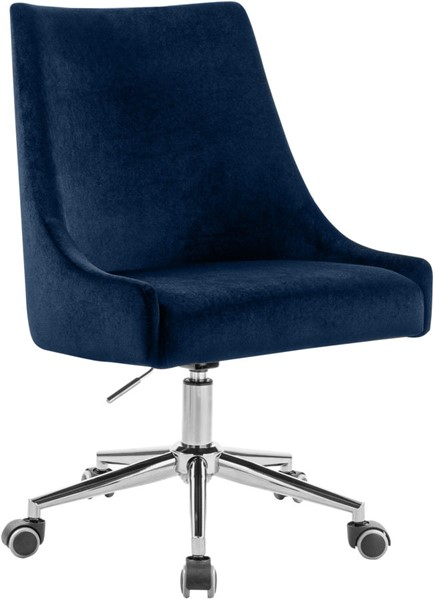 Meridian Furniture Karina Navy Chrome Office Chair MRD-164Navy