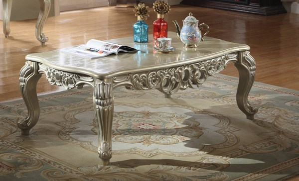 Meridian Furniture Cesar Silver Coffee Table MRD-202-C