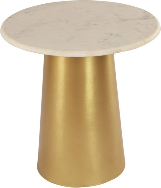 Design Edge Emerald  Brushed Gold Metal End Table DE-23461951