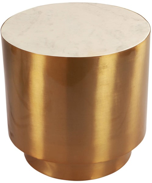 Design Edge Cambooya  Brushed Gold Metal End Table DE-23461997