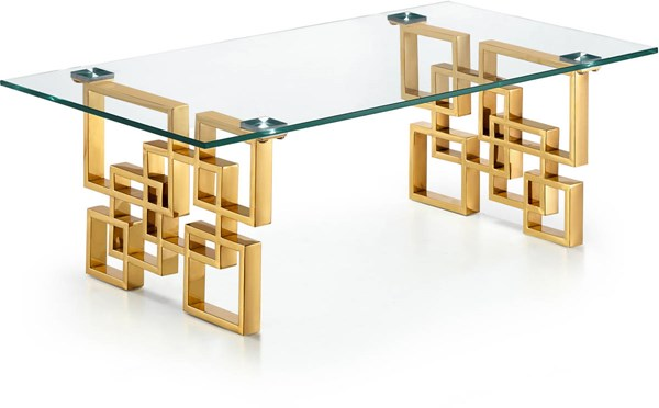 Meridian Furniture Pierre Gold Coffee Table MRD-214-C