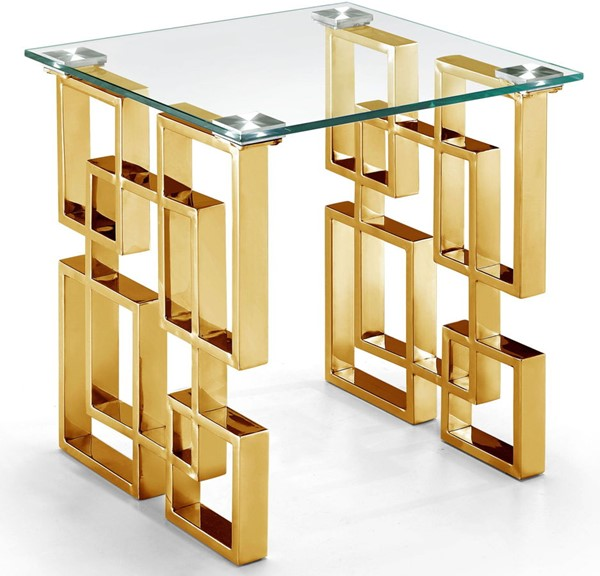 Meridian Furniture Pierre Gold End Table MRD-214-E