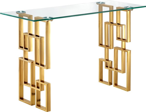 Meridian Furniture Pierre Gold Console Table MRD-214-S