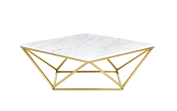 Design Edge Woodstock  Gold Coffee Table DE-21987753