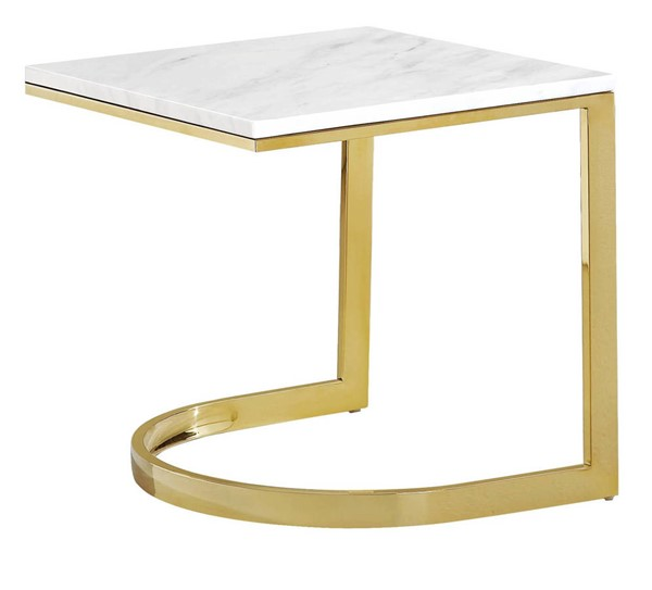 Design Edge Wauchope  Gold End Table DE-21987802