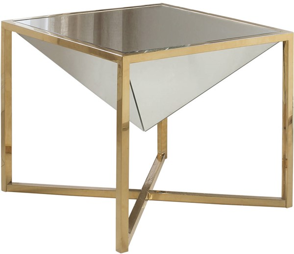 Meridian Furniture Krystal Gold End Table MRD-219-E