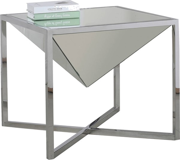 Meridian Furniture Krystal Silver End Table MRD-220-E