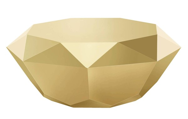 Design Edge Petersham  Gold Stainless Steel Coffee Table DE-21987918