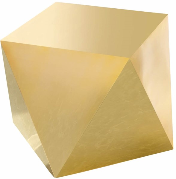 Meridian Furniture Gemma Gold Stainless Steel End Table MRD-222Gold-E